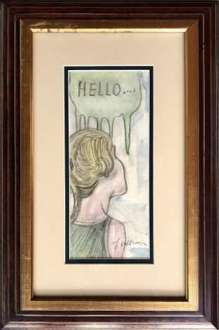 Roy Lichtenstein Drawing Hand Drawn American Pop Art