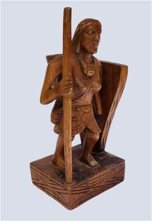 Mardonio Magana Sculpture Antique Mexican Stl of