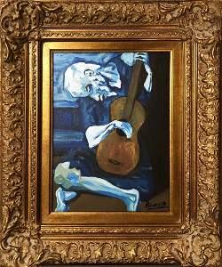 Pablo Picasso Spanish Musician Blue Period Guitar Man