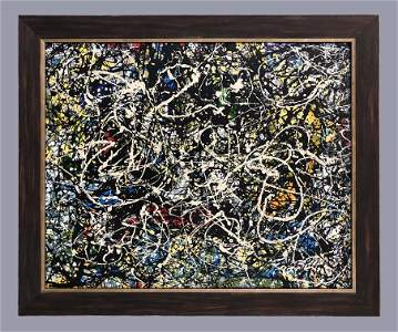 Jackson Pollock Abstract Expressionism 1950