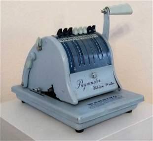 Vintage American Checkwriter ribbon writer Paymaster