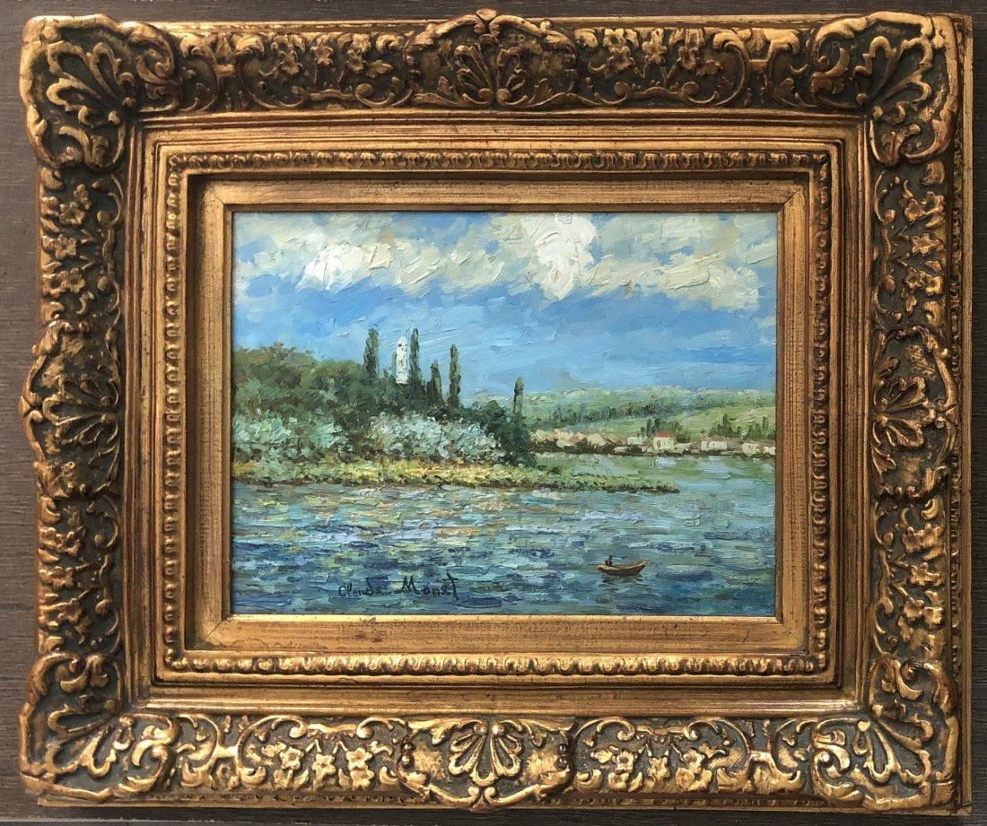 Claude Monet Oil Canvas French Landscape Impressionist