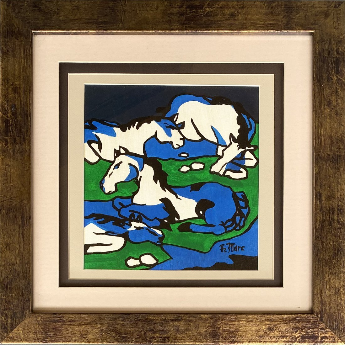 Franz Marc German Abstract Horses Expressionist