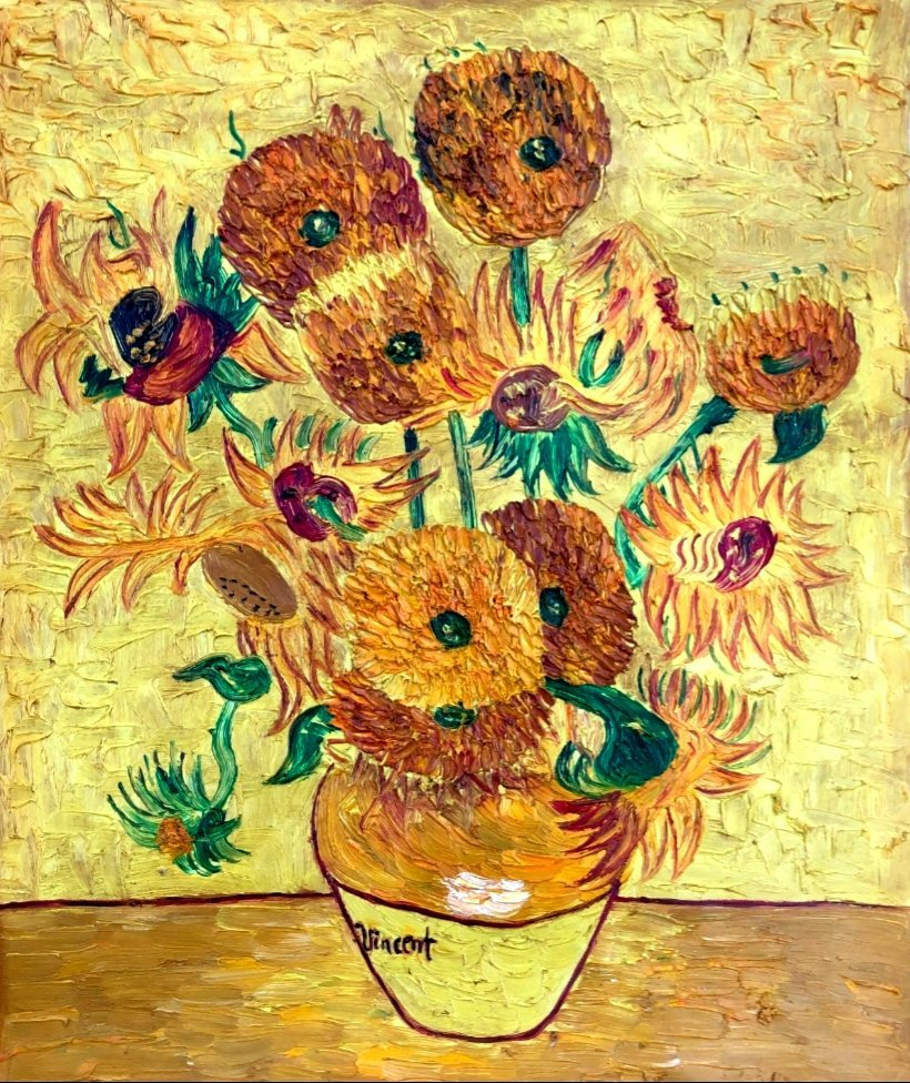 Vincent Van Gogh Still Life Flowers Post Impressionist