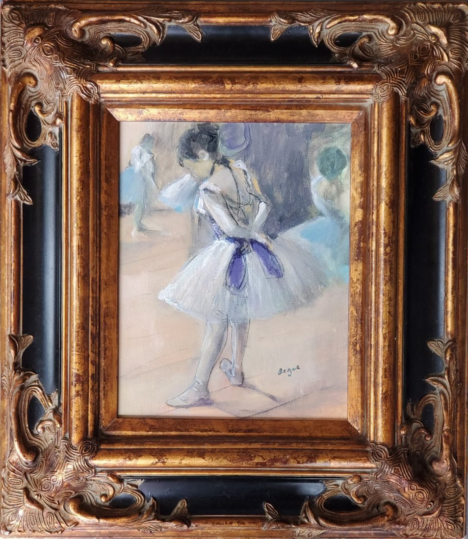 Edgar Degas Oil Canvas Ballerina Dancer Impressionist