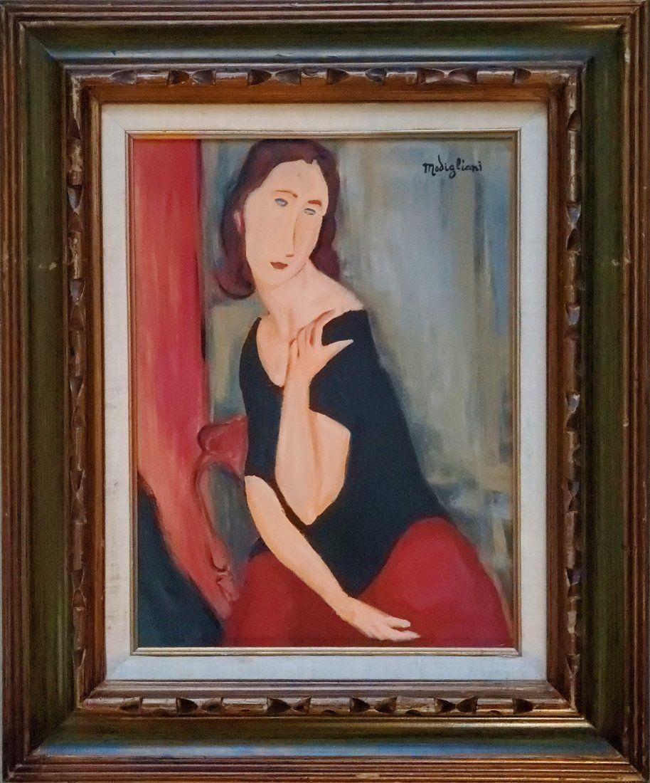 Amedeo Modigliani Oil Canvas Italian Expressionist