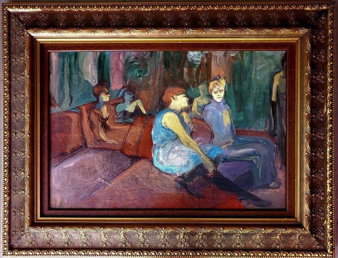 Henri De Toulouse Lautrec French Oil Canv Impressionist