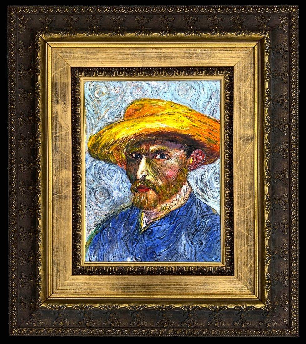 Vincent Van Gogh Still Self Oil Canvas Portrait Man
