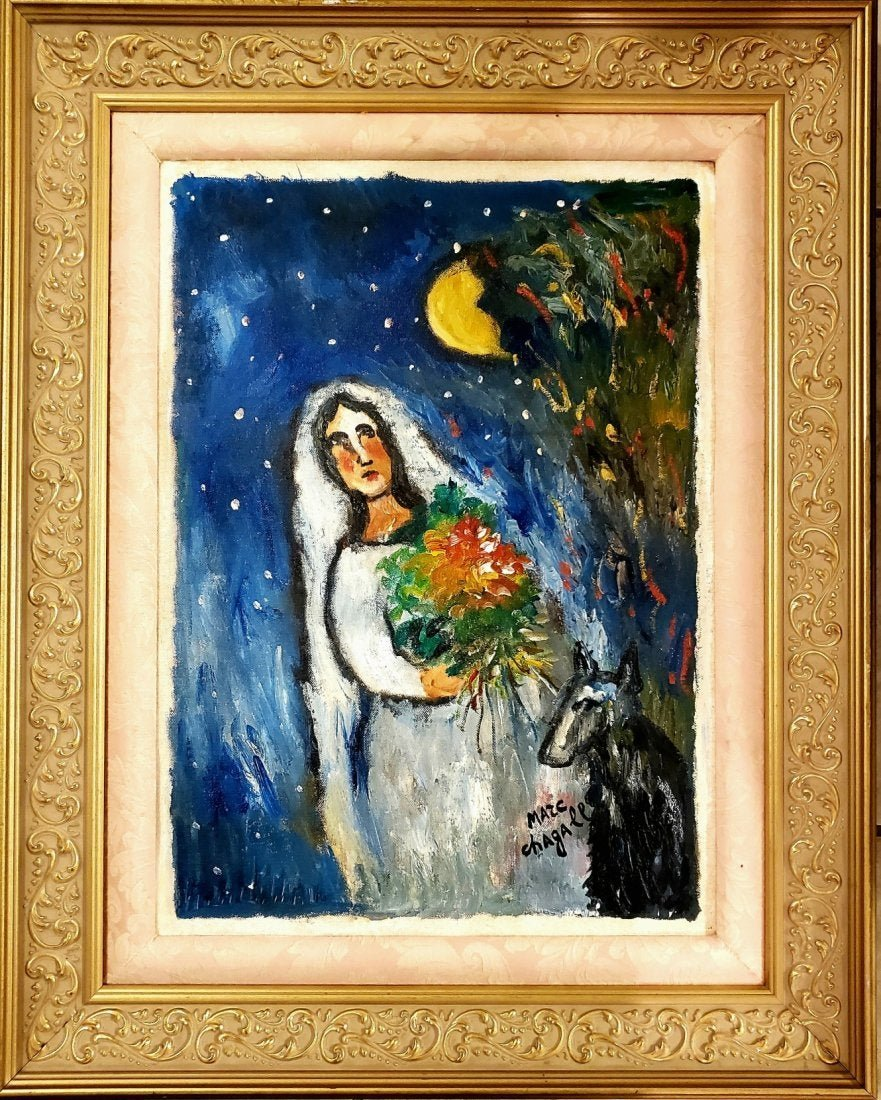 Marc Chagall Oil on Canvas Russian French Abstract