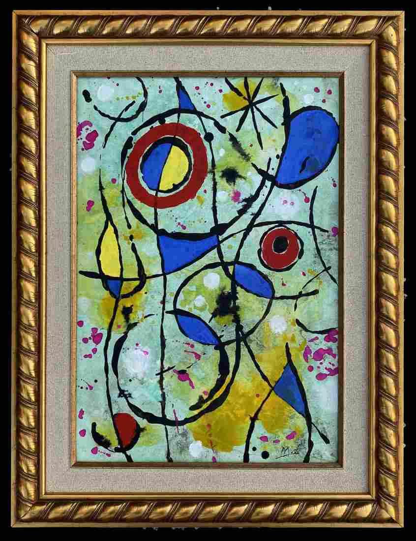 Joan Miro Spanish Oil Canvas Abstract Spanish Art