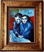 Pablo Picasso Spanish Blue Period Oil Canvas