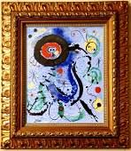 Joan Miro Abstract Figurative Spanish Oil Canvas