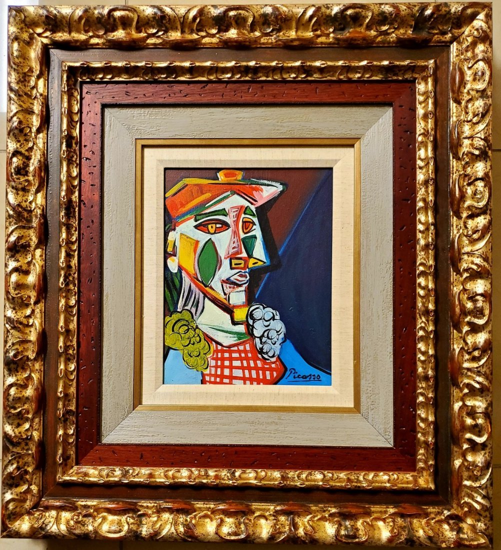 Pablo Picasso Spanish Cubist Abstract Women Oil Canvas