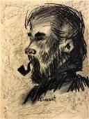 Vincent Van Gogh Self portrait Impressionist Drawing