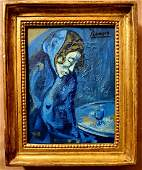 Pablo Picasso Spanish Blue Period Oil Canvas Portrait