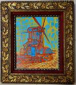 Vincent Van Gogh Landscape Moulin Landscape Oil Canvas
