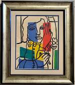 Fernand Leger French Cubist Oil Painting Drawing