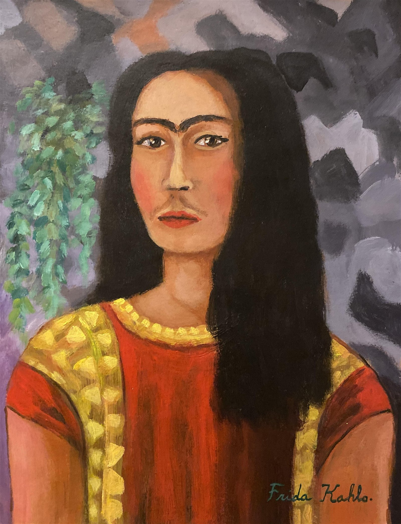Frida Kahlo hand painted Mexican Art 1907-1950