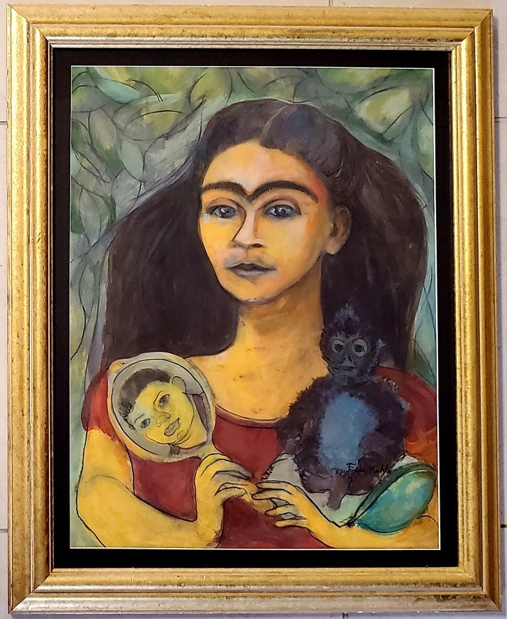 Frida Kahlo Mexican Self Portrait with Diego Rivera