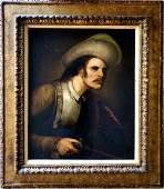 Rembrandt Harmenszoon van Rijn School Portrait Male Gun