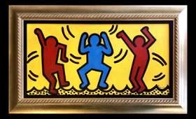 Keith Haring Painting American Pop New York Love Art