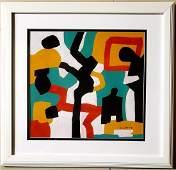 Stuart Davis American,1892-1964 Oil Painting Abstract