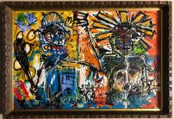 Jean Michel Basquiat Abstract Expressionist American