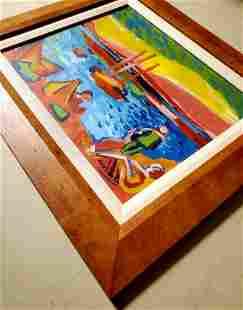Andre Derain Colorful French Oil Landscape Fauvism