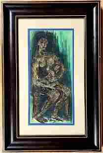 Henry Moore Maternity Drawing Motherhood Child Women