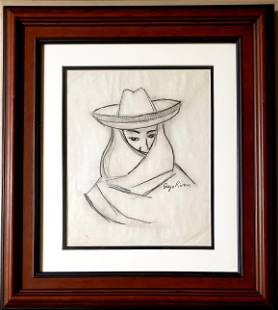 Diego Rivera Drawing Pencil Mexican New York Painting