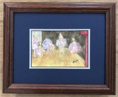 Edgar Degas Ballroom Dancing Ballerina Impressionist
