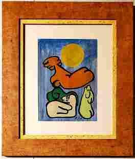 Paul Klee German Swiss Abstract Figurative Oil Art
