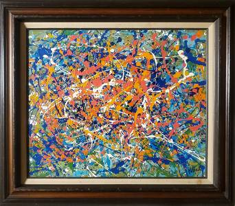 Jackson Pollock Abstract American Expressionism Canvas