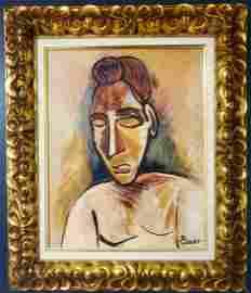 Pablo Picasso Portrait Oil Canvas Cubism Male Female