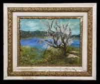 Vincent Van Gogh Landscape Impreesionist Oil Canvas
