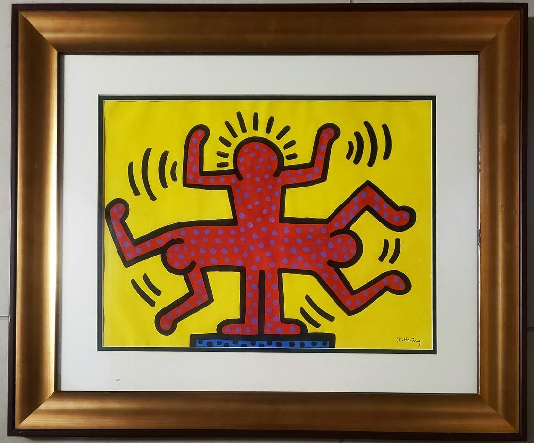 Keith Haring Painting American Pop New York Art Drawing