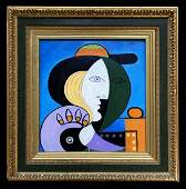 Pablo Picasso Spanish Cubism Oil Canvas Female Women
