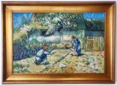 Vincent Van Gogh Landscape Dutch Farmer Oil Canvas Larg