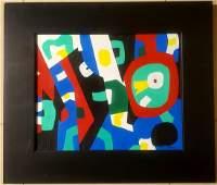 Stuart Davis American,1892-1964 Abstract oil on canvas