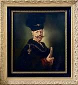 Rembrandt Harmenszoon van Rijn School Portrait Canvas