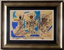 Jean-Michel Basquiat Graffiti Abstract Expressionist