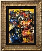 Jean Michel Basquiat Canvas American Expressionist 80