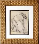 Diego Rivera Drawing Sketch Studio Campesino Mexican