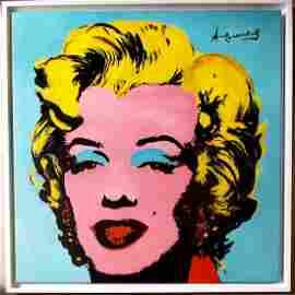 LARGE Andy Warhol Marylin Monroe Pop Canvas Portrait
