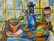 Pablo Picasso Cubist Still Life Spanish Oil Canvas