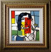 Fernand Leger French Cubist Oil Painting Canvas French