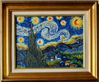 Vincent Van Gogh Dutch Landscape Night Oil Canvas