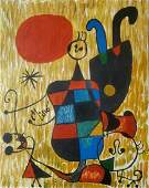 Joan Miro Abstract Figurative Canvas Spanish Surrealism