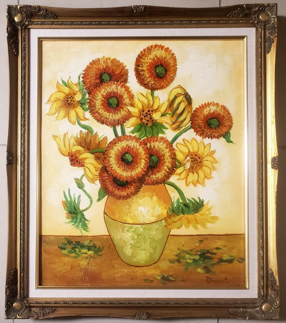Vincent Van Gogh still life Sunflowers Oil canvas Dutch
