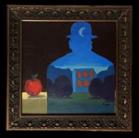 Rene Magritte Surrealist Belgium Oil Man Landscape